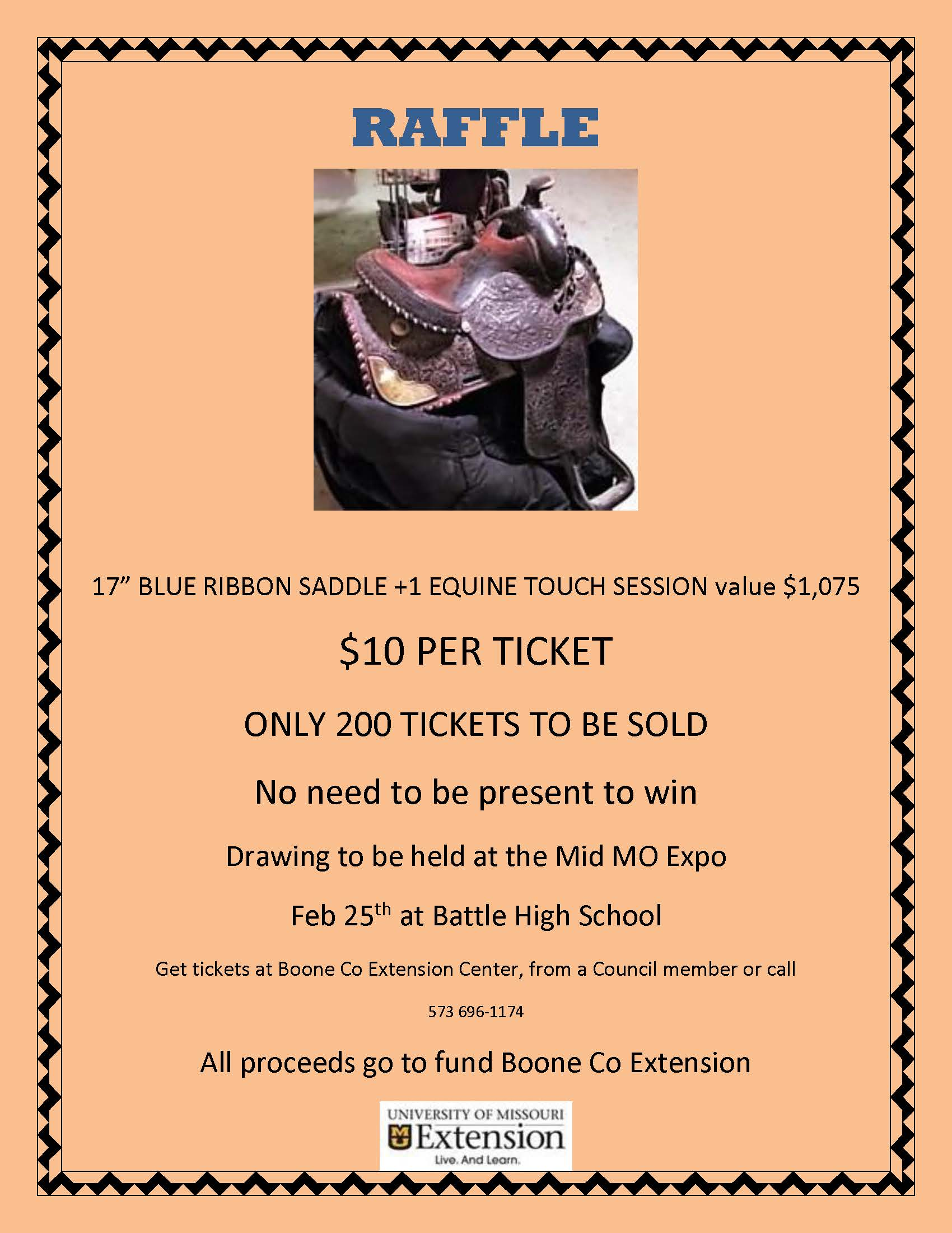 Flyer - Saddle Raffle